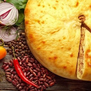 Кадурджин – Осетинский пирог с начинкой из фасоли