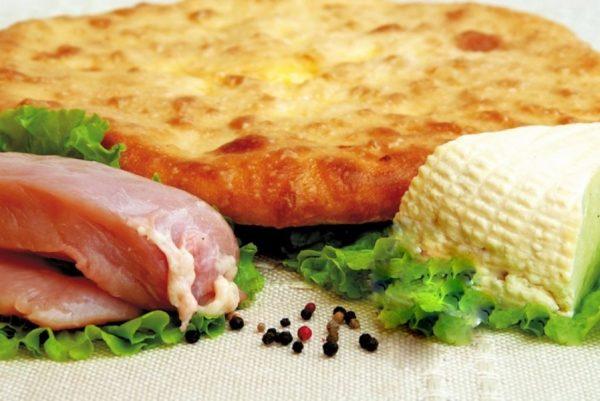 Осетинский пирог с курицей и сыром заказать с доставкой на дом в Москве