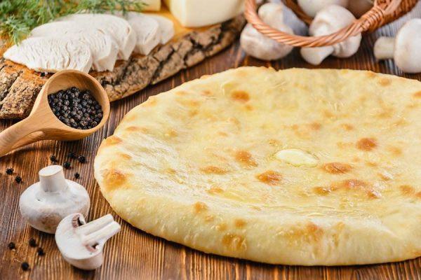 Осетинский пирог с курицей сыром и грибами заказать с доставкой на дом в Москве