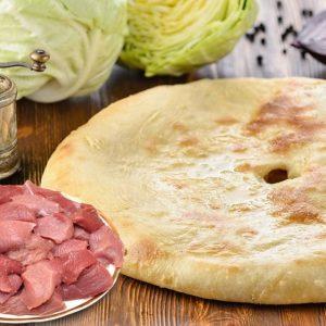 Осетинский пирог с мясом и капустой заказать с доставкой на дом в Москве