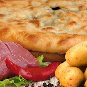 Осетинский пирог с мясом и картошкой заказать с доставкой на дом в Москве